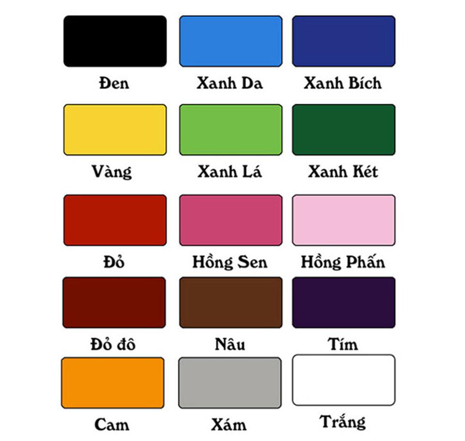 Màu Vài Dù Che Nắng Của Công Ty Dù Che Nắng Hòa Phát Đạt