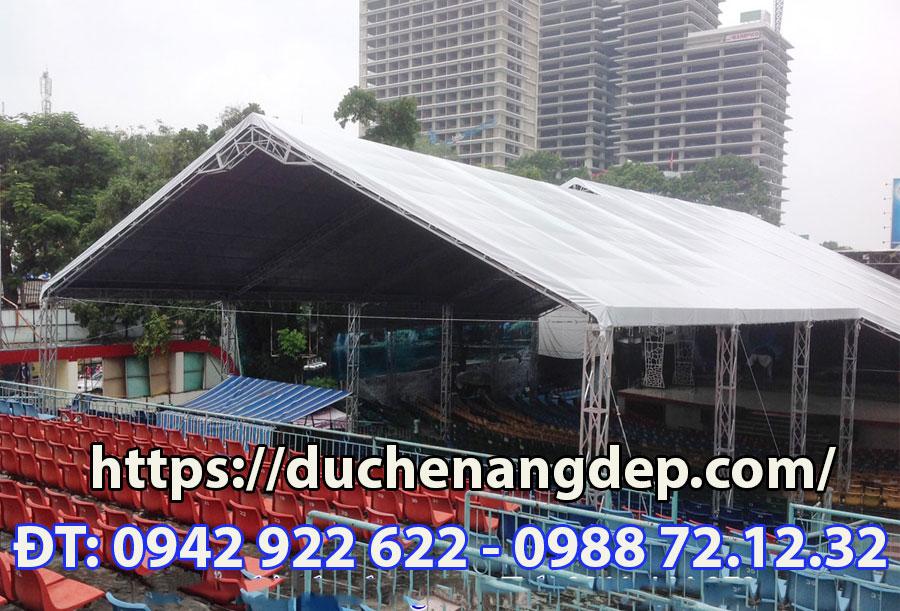 Lắp đặt mái xếp, lều xếp, nhà bạt và dù xếp giá rẻ ngoài trời tại Tphcm